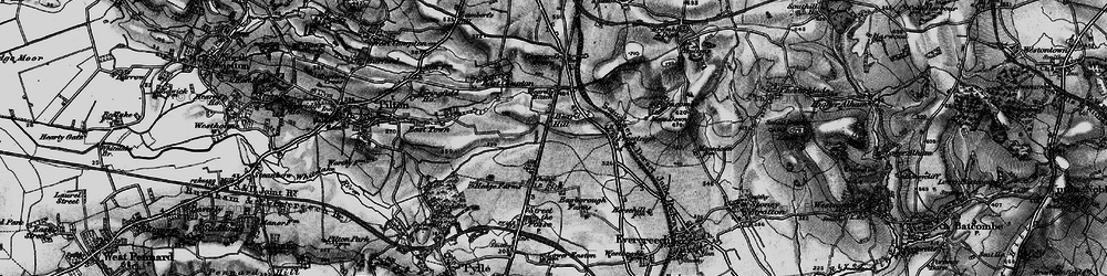 Old map of Whitecroft in 1898