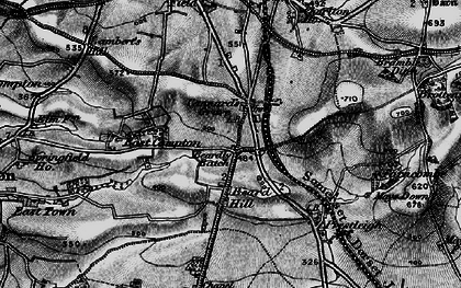 Old map of Beardly Batch in 1898