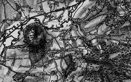 Old map of Killerton Park in 1898