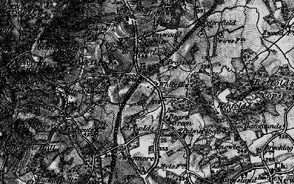 Old map of Wigmore in 1896