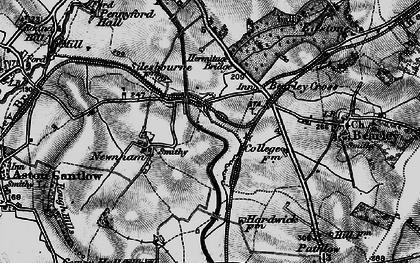 Old map of Bearley Cross in 1898