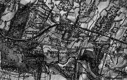 Old map of Bearsted in 1895