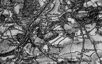 Old map of Beauchief in 1896