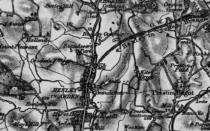 Old map of Beaudesert in 1898