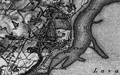 Old map of Beaumaris in 1899