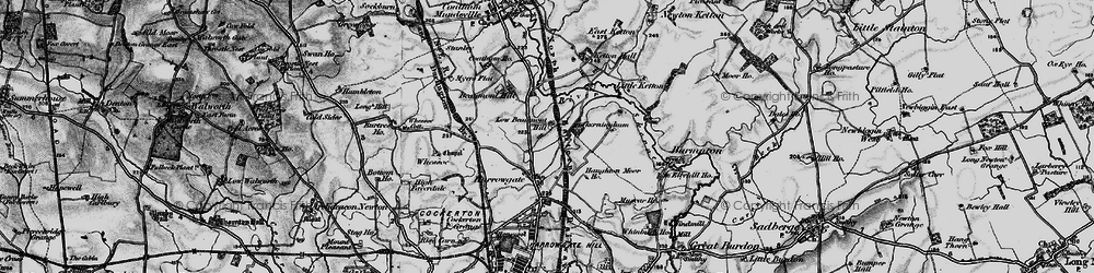 Old map of Beaumont Hill in 1897