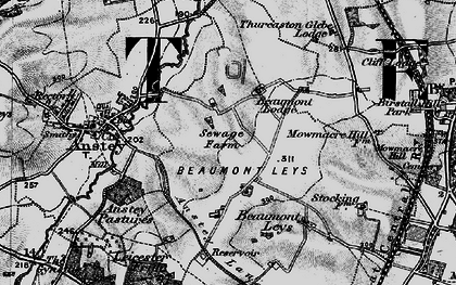 Old map of Beaumont Leys in 1899