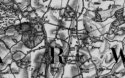 Old map of Beausale in 1898