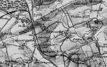 Old map of Alderford in 1895