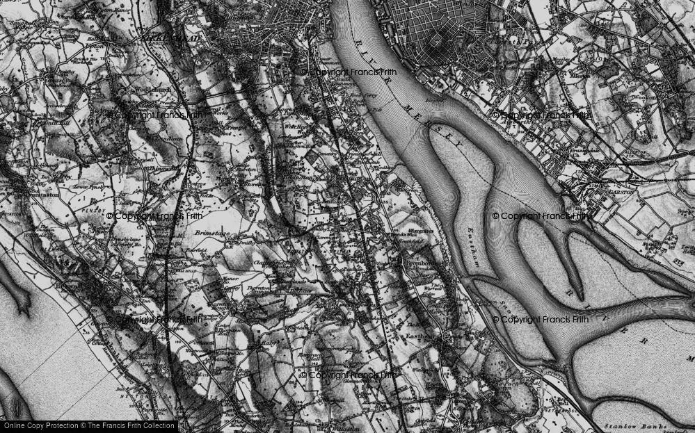Old Map of Bebington, 1896 in 1896