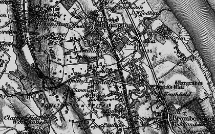 Old map of Bebington in 1896