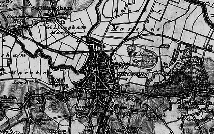 Old map of Beccles in 1898