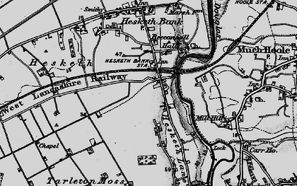 Old map of Becconsall in 1896