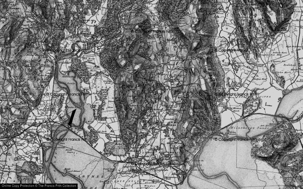Old Map of Historic Map covering Wood Broughton in 1898
