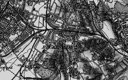 Old map of Beckenham in 1895