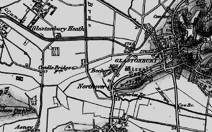Old map of Beckery in 1898