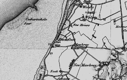 Old map of Beckfoot in 1897