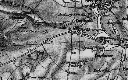 Old map of Beckhampton in 1898