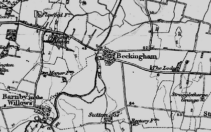 Old map of Beckingham in 1899