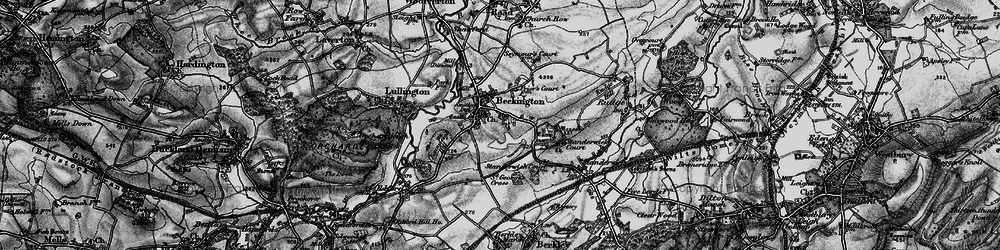 Old map of Beckington in 1898
