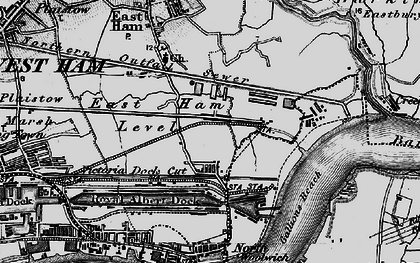Old map of Beckton in 1896