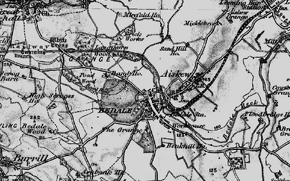 Old map of Bedale in 1897