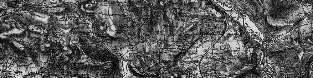 Old map of Beddau in 1897
