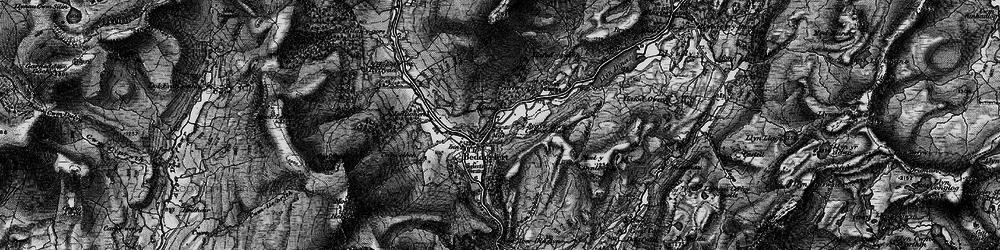 Old map of Beddgelert in 1899