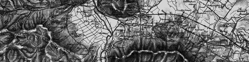 Old map of White Lion Pond in 1895