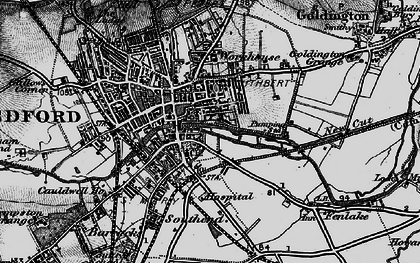 Old map of Bedford in 1896