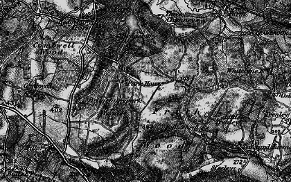 Old map of Bedgebury in 1895