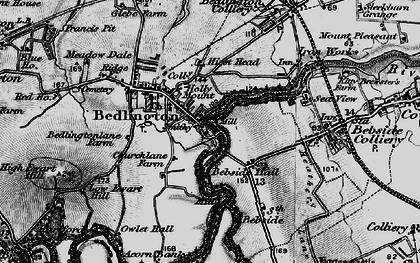 Old map of Bedlington in 1897