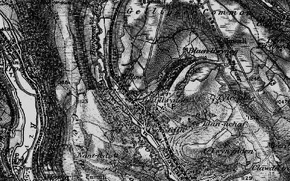 Old map of Bedlinog in 1897