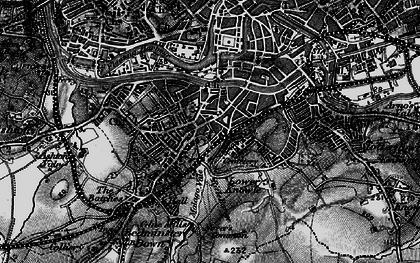 Old map of Bedminster in 1898