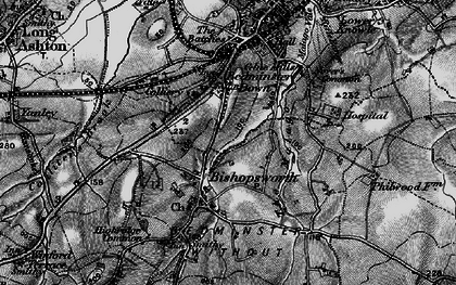 Old map of Bedminster Down in 1898
