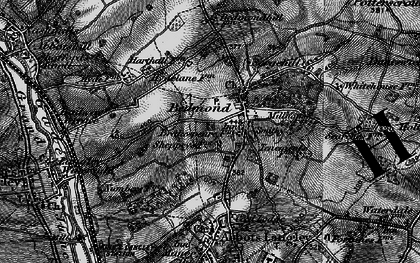 Old map of Bedmond in 1896