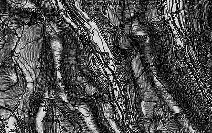 Old map of Bedwellty Pits in 1897