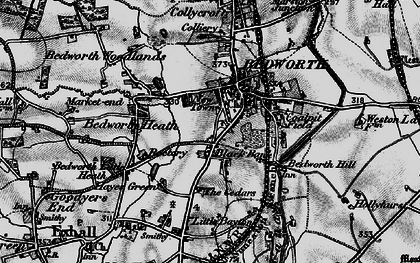 Old map of Bedworth in 1899