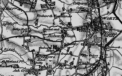 Old map of Bedworth Heath in 1899