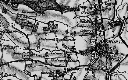 Old map of Bedworth Woodlands in 1899