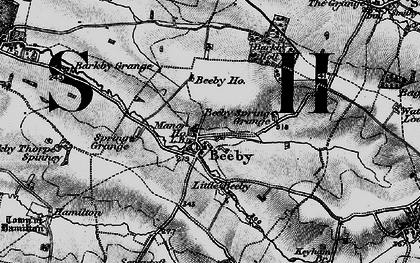 Old map of Beeby in 1899