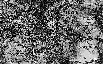 Old map of Beechen Cliff in 1898