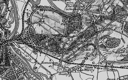 Old map of Beechwood in 1897