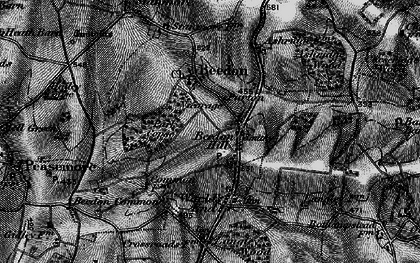 Old map of Beedon Hill in 1895