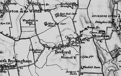Old map of Beeford in 1897