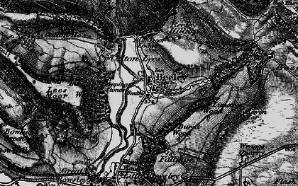 Old map of Limetree Wood in 1896