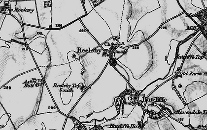 Old map of Beelsby in 1899