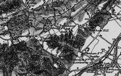 Old map of Beenham in 1895