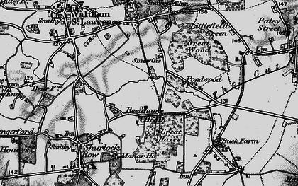 Old map of Beenham's Heath in 1895