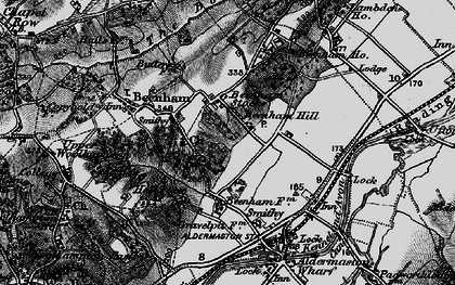 Old map of Beenham Stocks in 1895